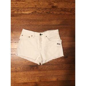 NWT Free People White Denim Shorts